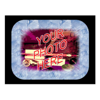 Ice Crystals template frame Postcard