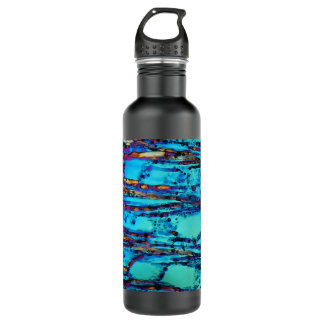 Ice crystals water bottle