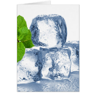 Ice cube cool yourself card