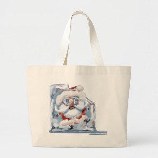 Ice-Cube Santa Canvas Bag
