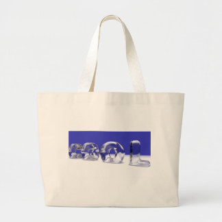 ICE CUBE TEXT TOTE BAGS