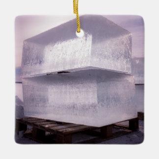 Ice cubes ceramic ornament
