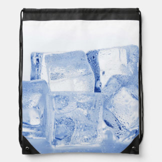 ICE CUBES DRAWSTRING BAG
