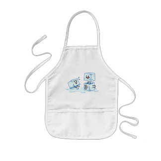ice cubes icy cube water slipping stack melt cold kids' apron