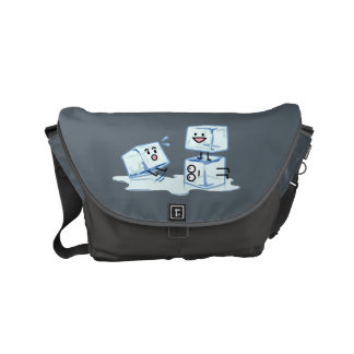 ice cubes icy cube water slipping stack melt cold small messenger bag