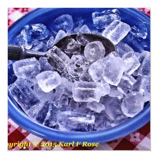 Ice cubes invitation