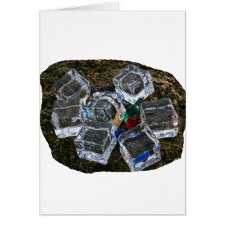 Ice Cubes & Light Bulbs on Beach Photograph Card