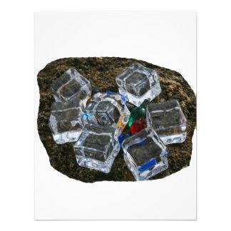 Ice Cubes & Light Bulbs on Beach Photograph Custom Invitation