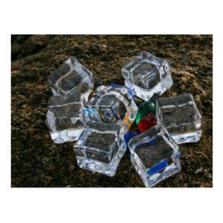 Ice Cubes & Light Bulbs on Beach Photograph Post Cards