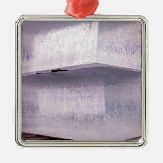Ice cubes metal ornament