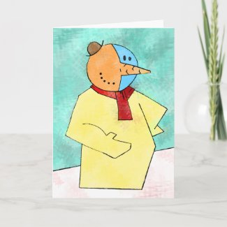 Ice Cubism Greeting Card