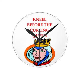 ice curling round clock