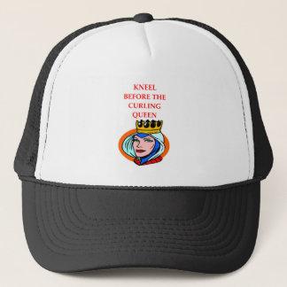 ice curling trucker hat