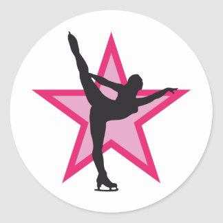 ice dance classic round sticker