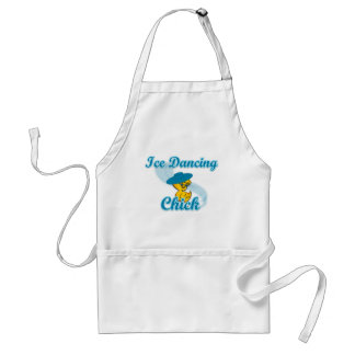 Ice Dancing Chick #3 Adult Apron