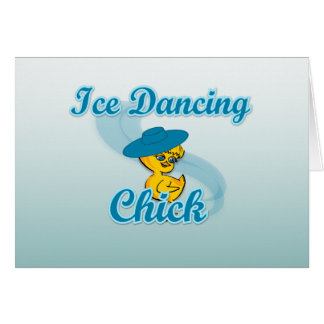 Ice Dancing Chick #3 Greeting Card
