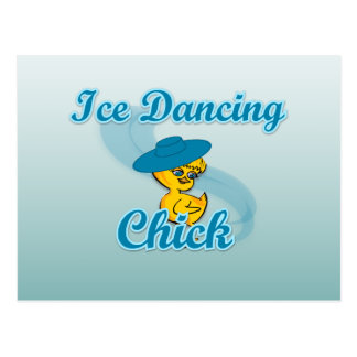 Ice Dancing Chick #3 Postcard