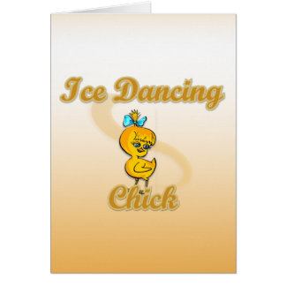Ice Dancing Chick Greeting Cards