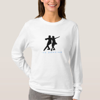 Ice Dancing Couple Silhouette T-Shirt