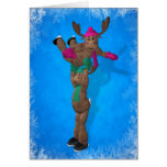 Ice Dancing Whimsical Reindeer Cards