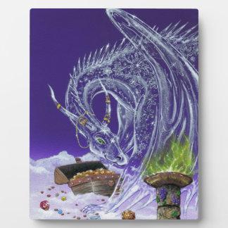 Ice Dragon Guarding Treasures Photo Plaque