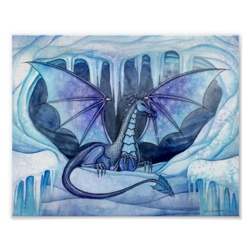 Ice Dragon Poster by Molly Harrison