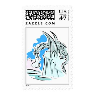 Ice Dragon Stamp