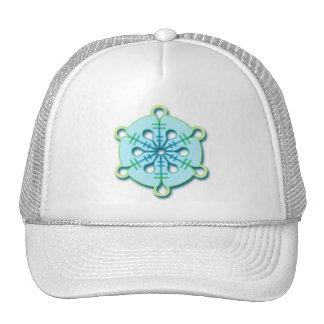 Ice Drop Winter Christmas Snowflake Trucker Hat
