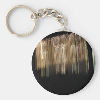 Ice Droplets Basic Round Button Keychain