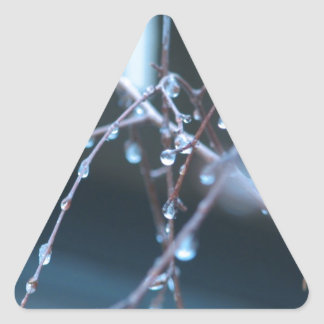 Ice Droplets Triangle Sticker