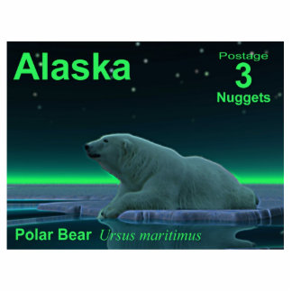Ice Edge Polar Bear - Alaska Postage Cutout