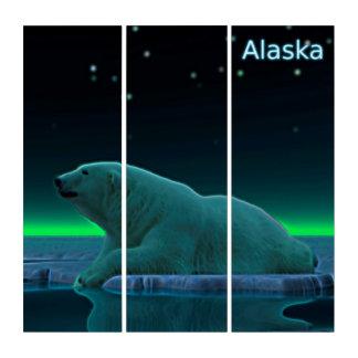 Ice Edge Polar Bear - Alaska Triptych