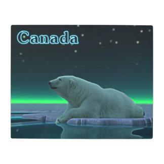 Ice Edge Polar Bear - Canada Metal Print
