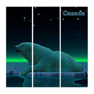 Ice Edge Polar Bear - Canada Triptych