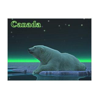 Ice Edge Polar Bear Canvas Print