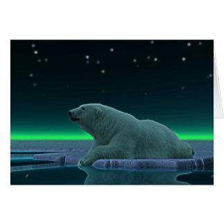 Ice Edge Polar Bear Card