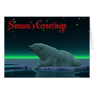 Ice Edge Polar Bear Greeting Cards