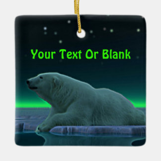 Ice Edge Polar Bear Ceramic Ornament