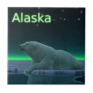 Ice Edge Polar Bear Ceramic Tile