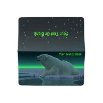 Ice Edge Polar Bear Checkbook Cover