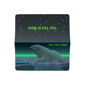 Ice Edge Polar Bear Checkbook Cover