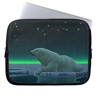 Ice Edge Polar Bear Laptop Sleeve