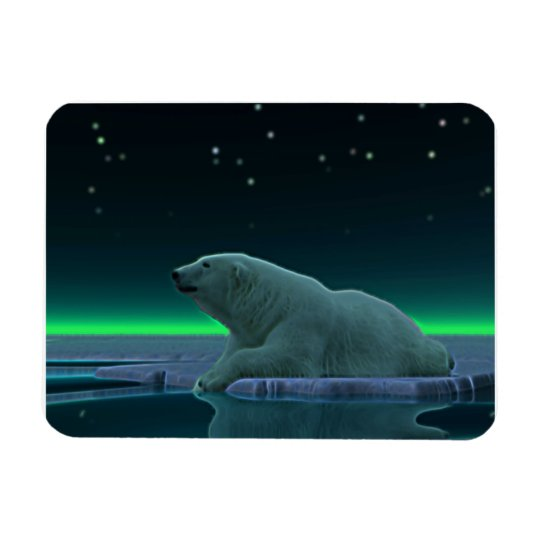 Ice Edge Polar Bear Magnet