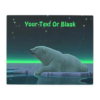 Ice Edge Polar Bear Metal Photo Print