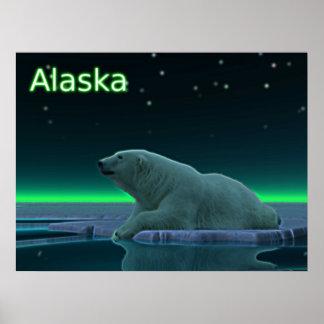 Ice Edge Polar Bear Poster