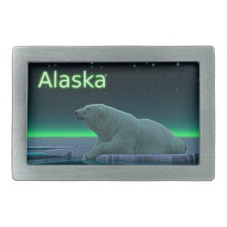 Ice Edge Polar Bear Rectangular Belt Buckle