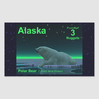 Ice Edge Polar Bear Rectangular Sticker