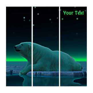 Ice Edge Polar Bear Triptych