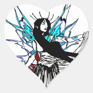 Ice fairy heart sticker