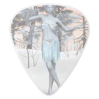Ice Fairy White Delrin Guitar Pick